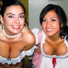 Девушки фанатки и болельщицы бирпонга
