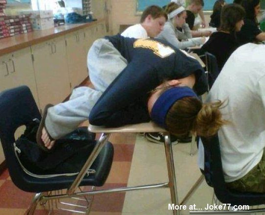 sleeping-inclass