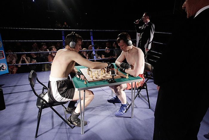 London, England: International Chessboxing Tournament At The Scala