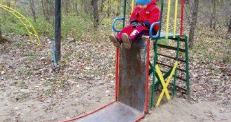 Приколы на детской площадке (16 фото)