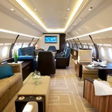 Самые невероятные роскошества в частных самолётах (9 фото)
