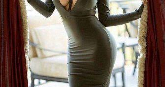 Девушки в обтягивающих платьях. (11 фото)