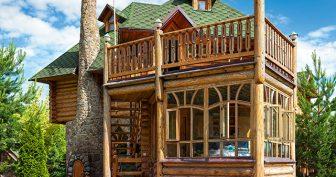 Красивые деревянные дома (11 фото)