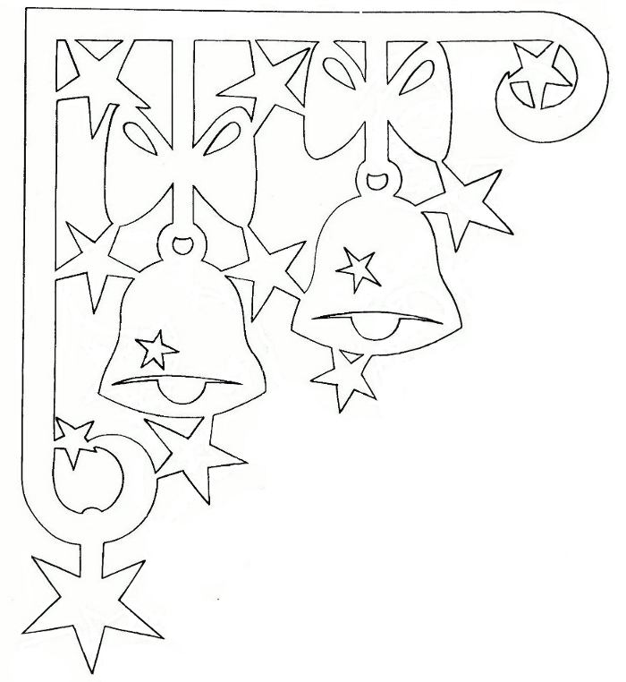 Шаблон новогодние колокольчики