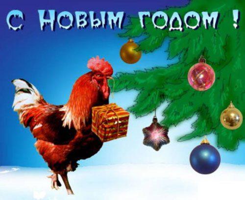 Этот петух поздравляет вас с новым годом!