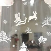 Новогодние трафареты и шаблоны — прикольные новогодние картинки на окна