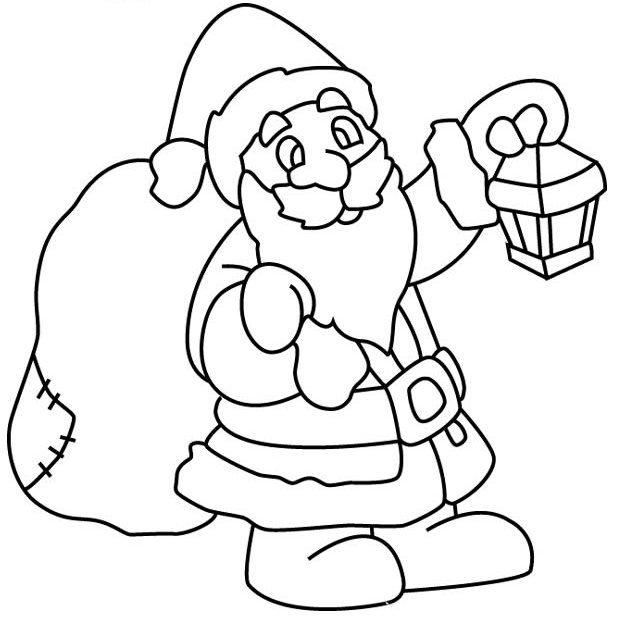 Трафарет новогодний дед мороз