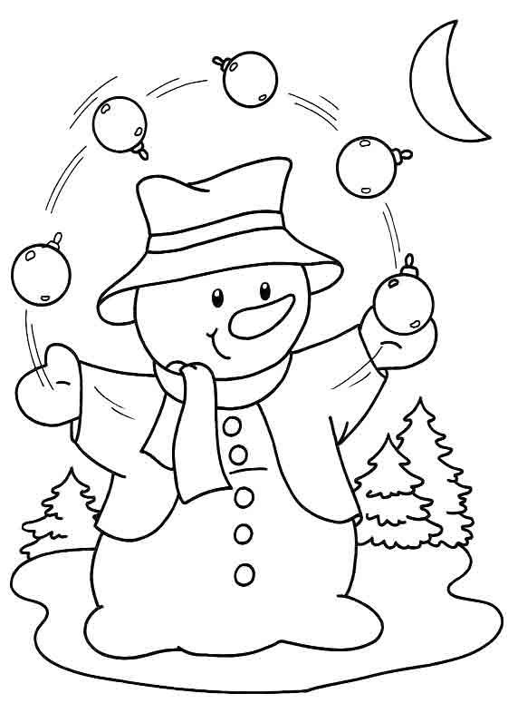 Трафарет - новогодний снеговик
