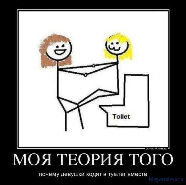 Картинки как девушки ходят в туалет