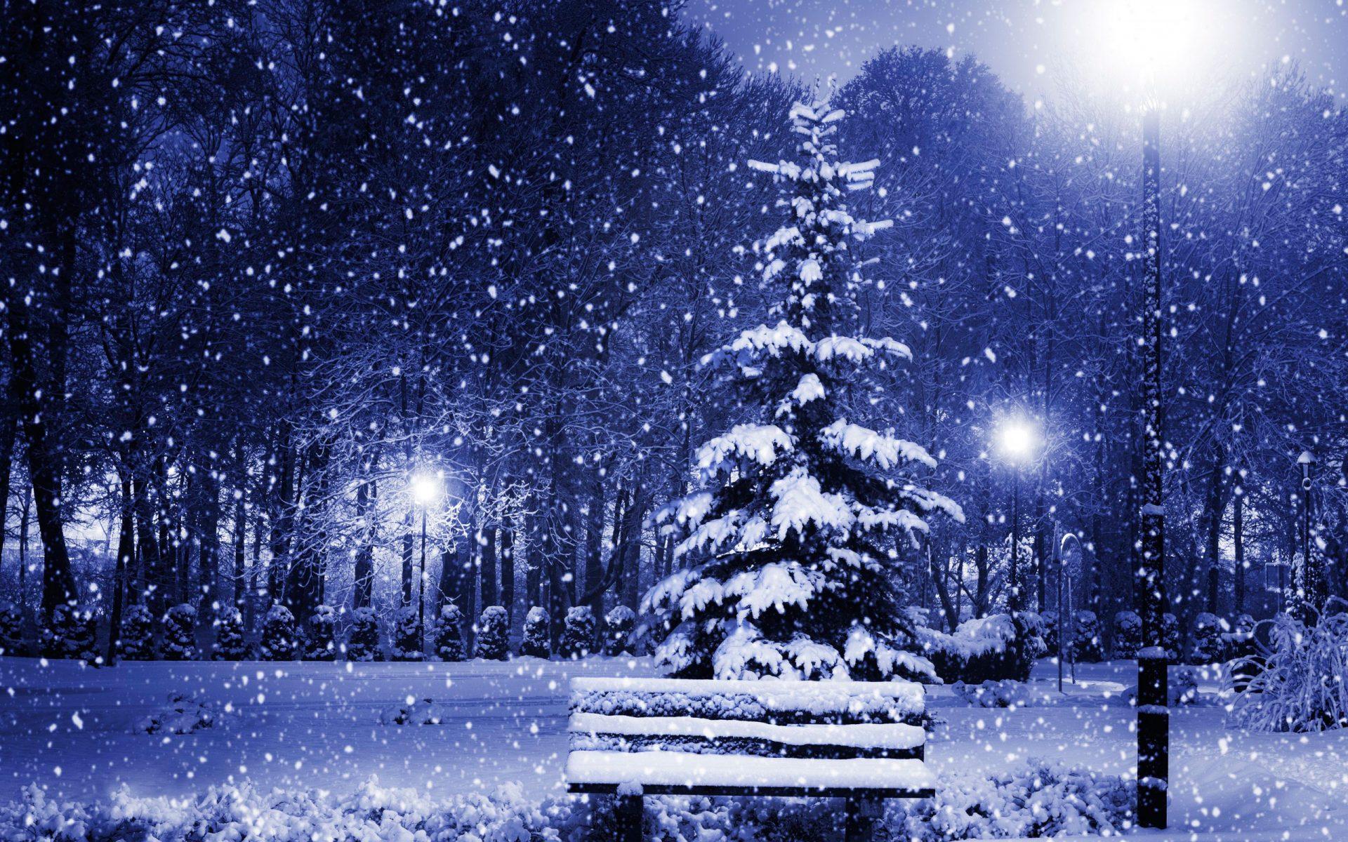 Снег идет картинки красивые новогодние