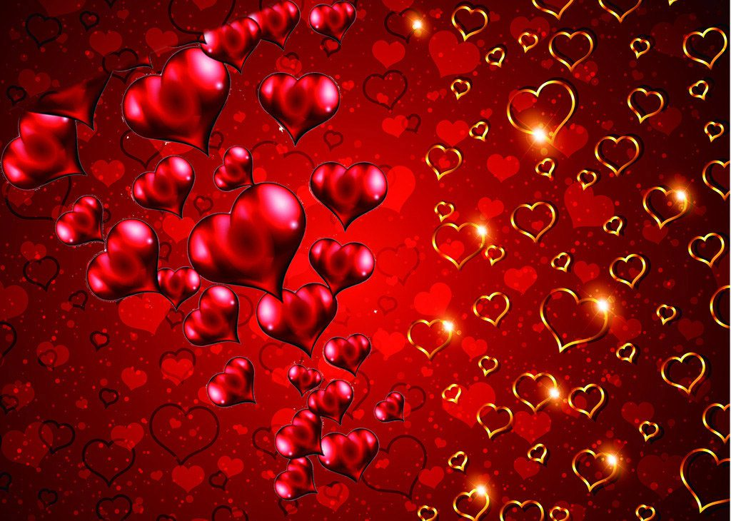 Розы картинки сердечки