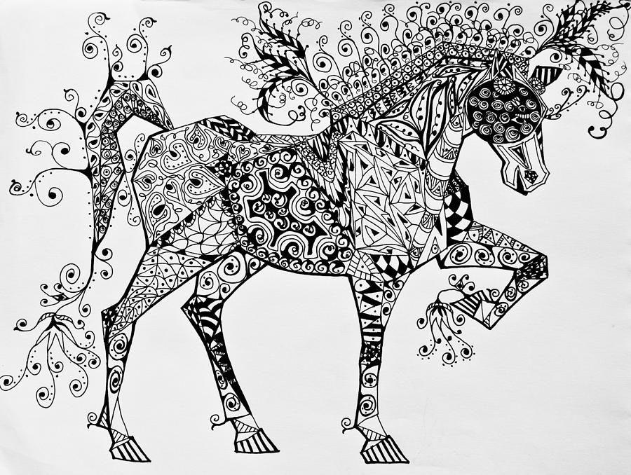39 - Mandala de chevaux ...