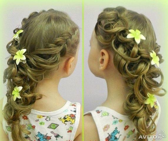 Прическа на длинные волосы девочке своими руками в домашних условиях фото фото 799