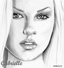 Красивые девушки нарисованные карандашом фото