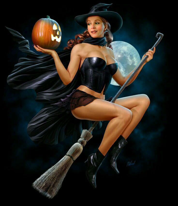 Сексуальная девушка ведьма фэнтези