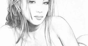 Картинки красивых нарисованных девушек (35 фото)