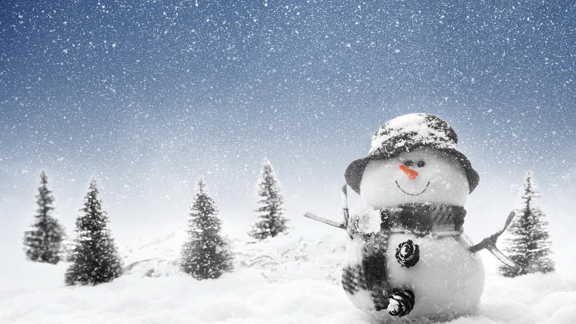 Креативные анимационные картинки зима