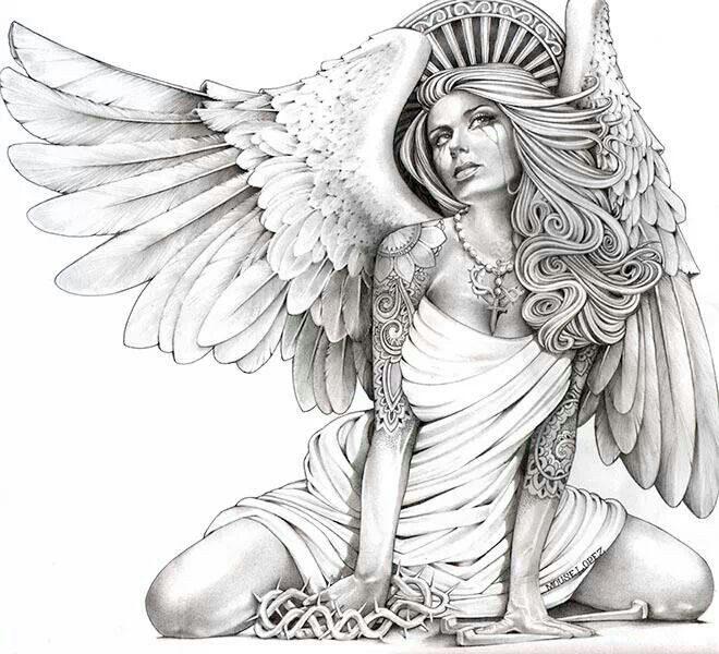 Картинки эскизы тату ангел законодательстве