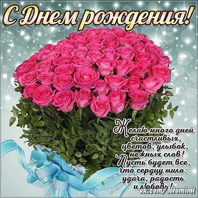 поздравления с днём рождения картинки красивые для девушки живые