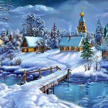 Красивые картинки нарисованные зима (35 фото)