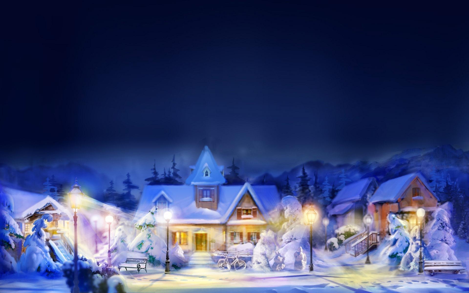 Зима закат