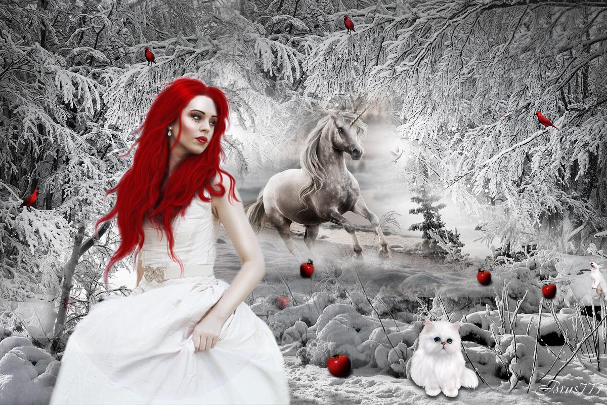 Картинки зимы и девушек — 6