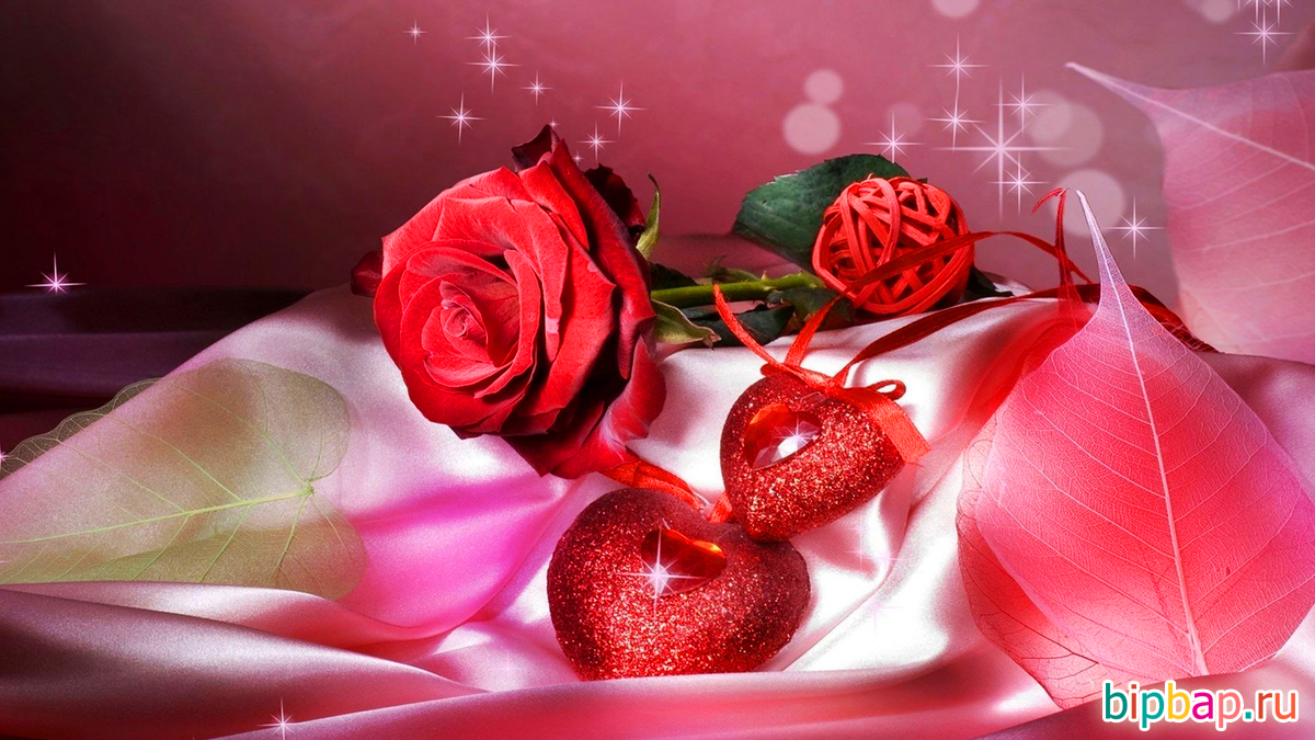Год, красивые гифы с цветами о любви
