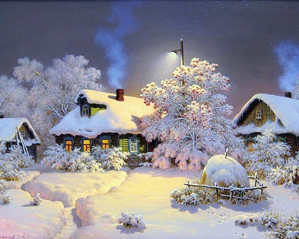 Фото девушки ночью в деревне