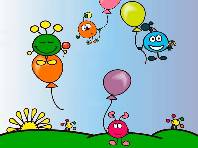 Дню, воздушные шарики картинки прикольные
