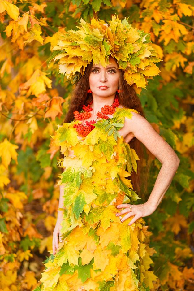 день фото с листом клена как платье мой опыт