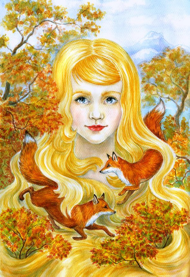 Картинки осень девочка