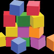 Картинки кубики (33 фото)