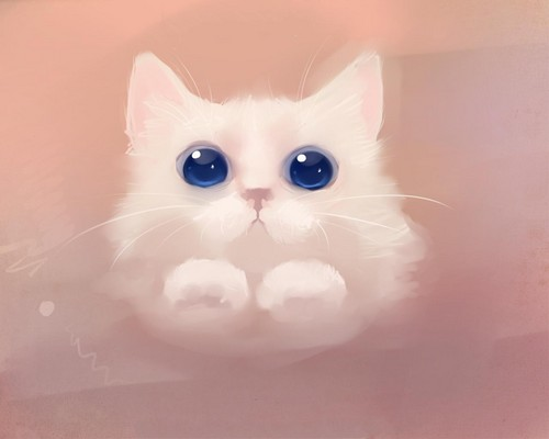 Рисунок рыжий котенок
