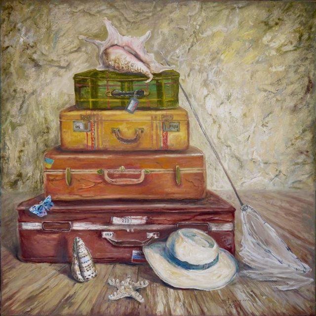 Открытки с чемоданом