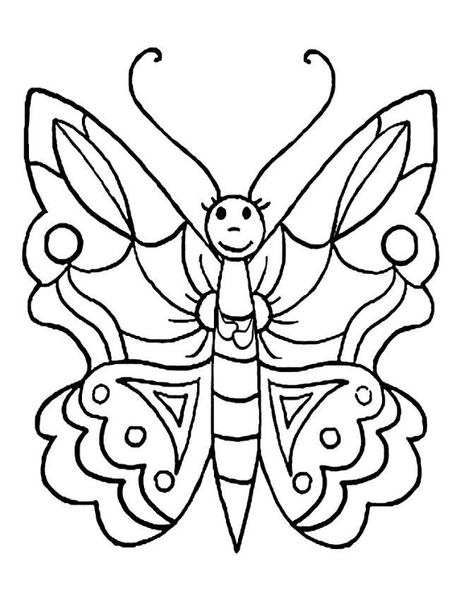 Картинки бабочки красивые нарисованные для распечатки 35