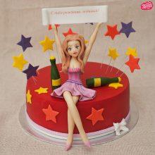 Прикольные торты девушке (36 фото)