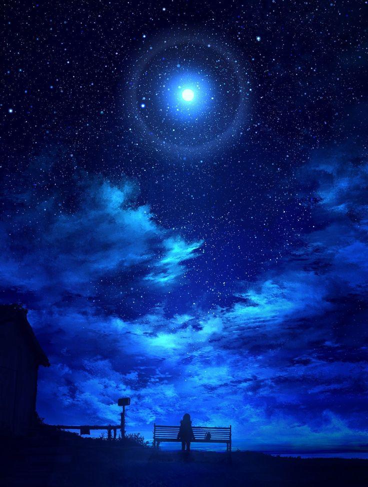 гравировки картинки ночное звездное небо используя минимум средств