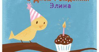 Смешные картинки поздравления С Днем Рождения Элина (27 фото)