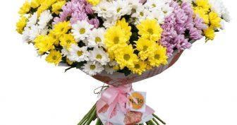 Фото букеты из хризантем (25 фото)