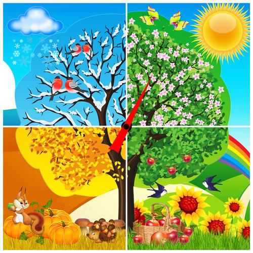 Картинки времена года для детей (14 фото) ???? Прикольные картинки и юмор