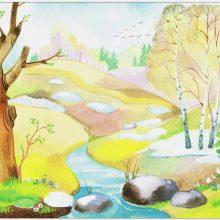 Нарисованные картинки весна (21 фото)