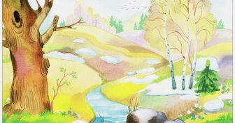 Нарисованные картинки весна (26 фото)