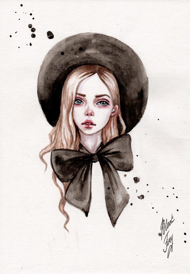 Красивые рисунки картинки девушек