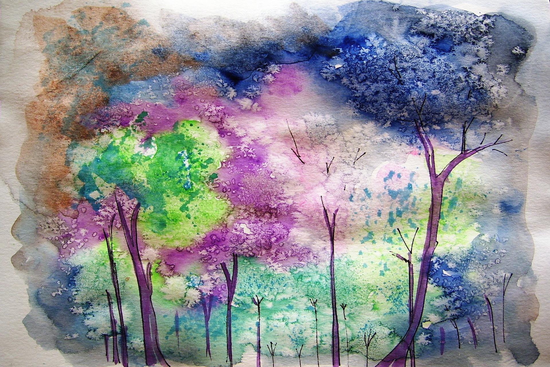 Рисунки постепенно красками