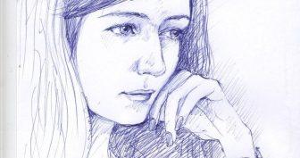 Рисунки ручкой для срисовки (28 фото)