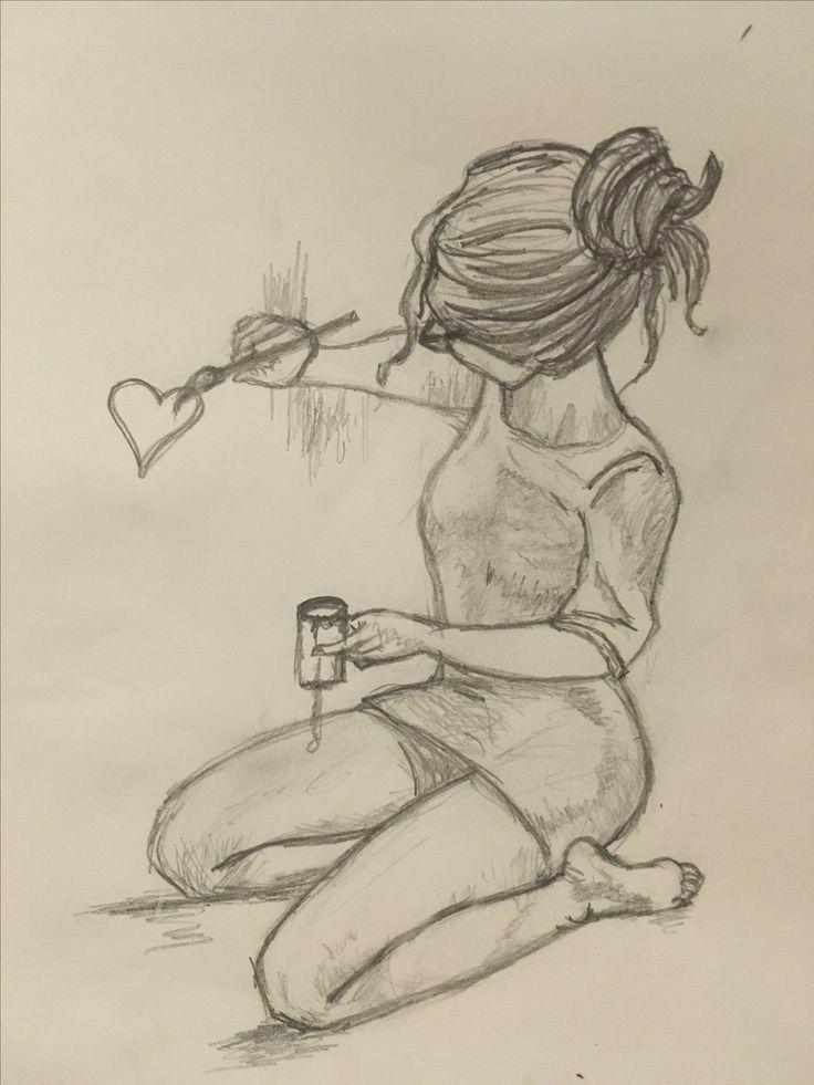 Картинки для срисовки грусные