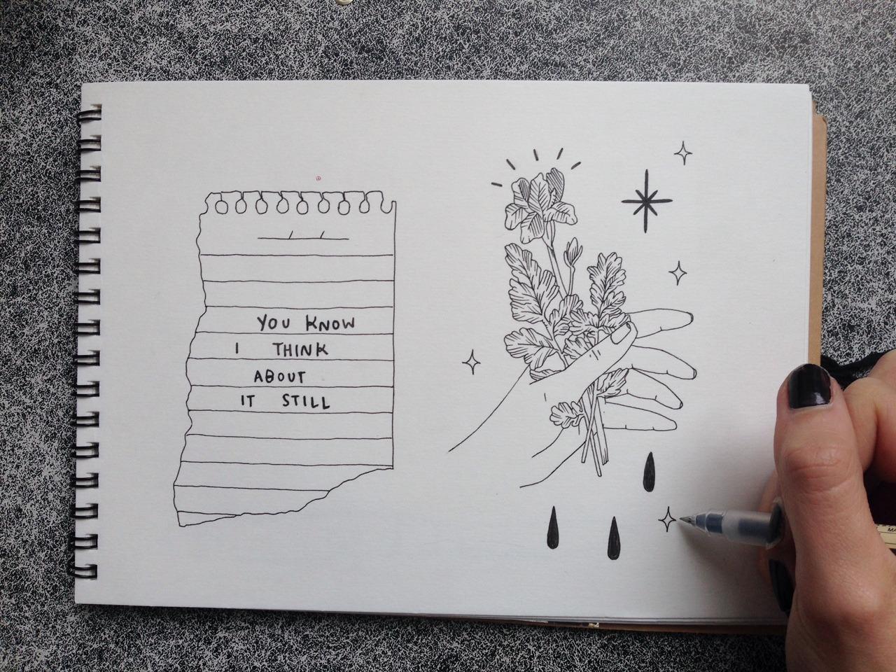 картинка черной ручкой последняя моя весна треть