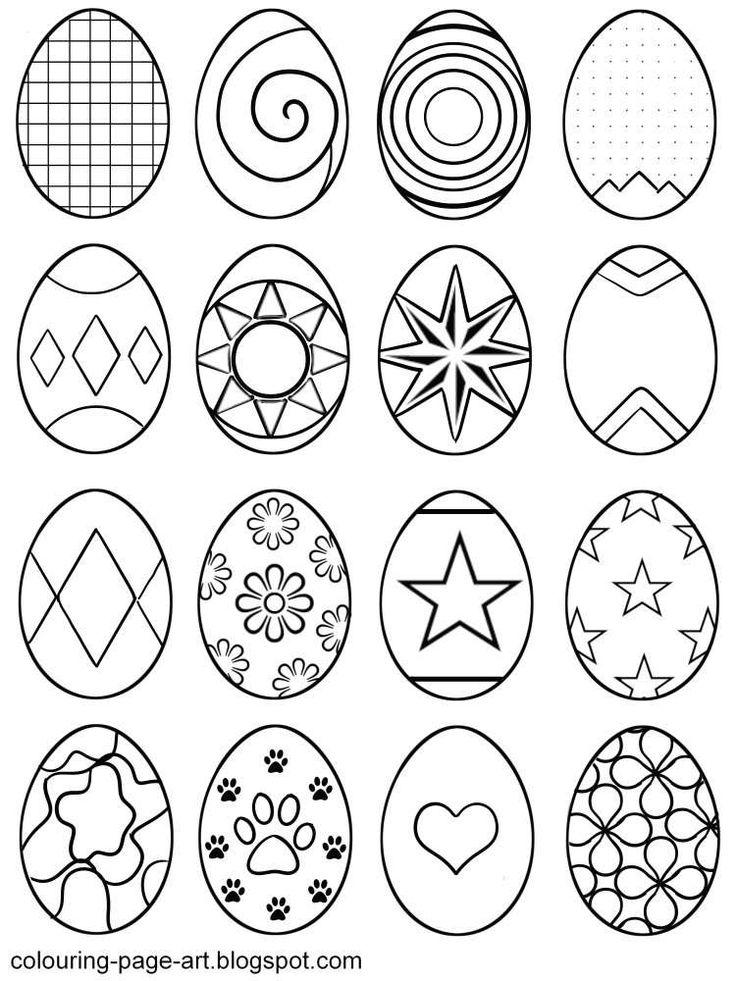 Картинки для срисовки пасха яйца
