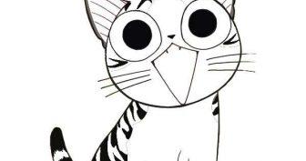 Картинки для срисовки котики (34 фото)