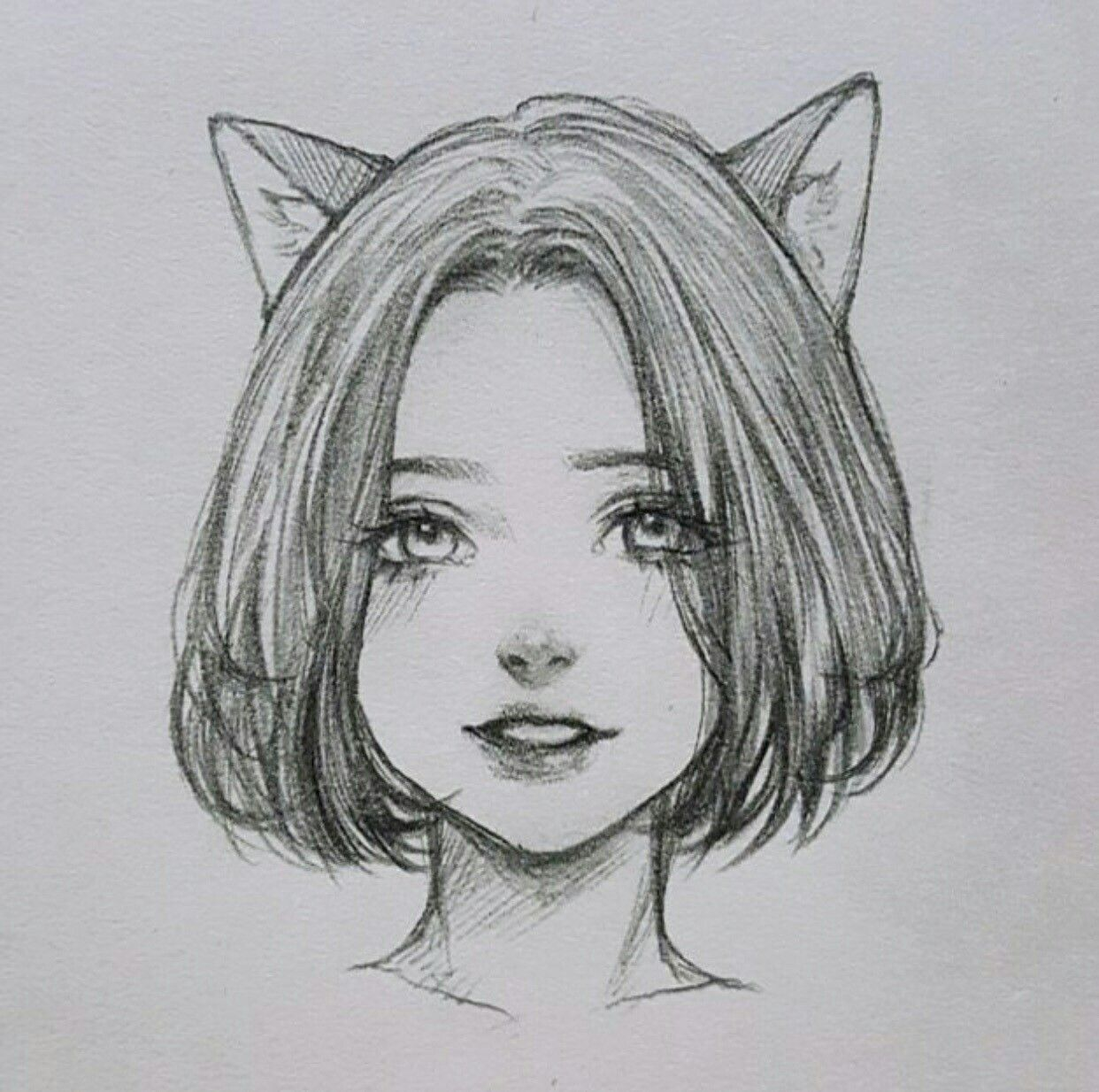 Картинки срисовки карандашом девушки